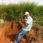 Bob Gilkes in the field