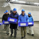 Australian delegation carrying seeds inside the seed vault