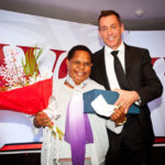 Mary Linibi with Greg Pawson, Westpac Pacific General Manager