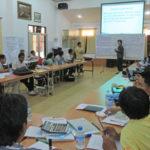 The class underway in Vientiane
