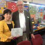 Ms Chi with Crawford Fund QLD Coordinator, Dr Kep Coughlan