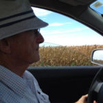 Dr Tony Fischer as he drives the journalists through rural Obregon. Credit Kim Honan.