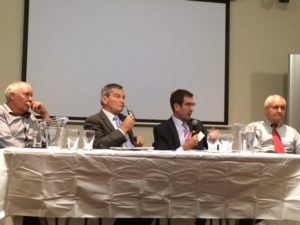 Panel of keynote speakers at the forum