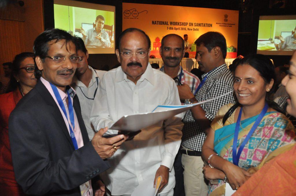 Dr. Anil Mehta (L) and M. Venkaiah Naidu