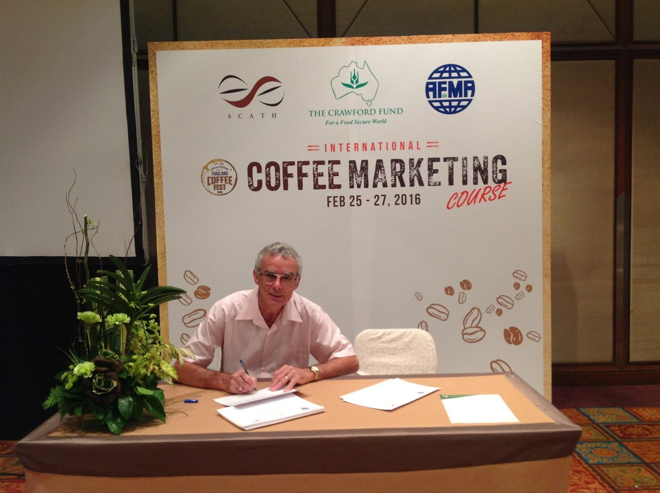 Signing coffee cert